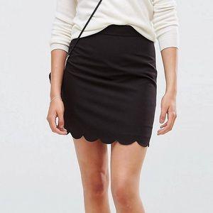 ASOS Scallop Mini Skirt